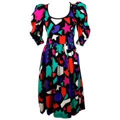 "1983 YVES SAINT LAURENT ""Hommage A Matisse"" Dress"