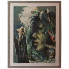 1984 Figurative Single Print Monoprint by artist Ole Bold NYC