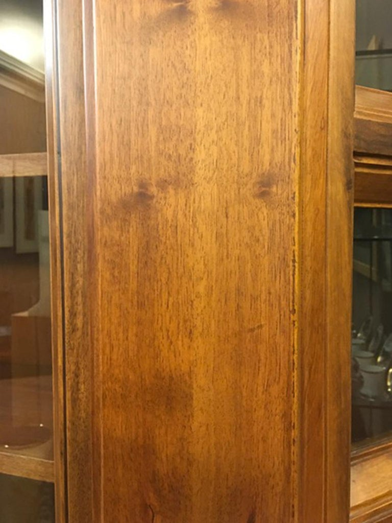 1984 Italy Officina Rivadossi Walnut Cabinet Vitrine in Brutalist Style For Sale 10