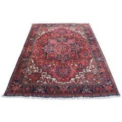 1985 Bakhtiar Iran 100% Wool Floral Medallion Area Rug Carpet