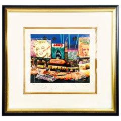 """1985 Hiro Yamagata Serigraph """"Los Angelas"""" Hand Signed 703/1000"""