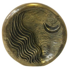 1985 Italy Post Modern Abstract Bronze Sculpture the Moon