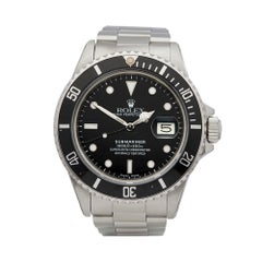 1985 Rolex Submariner Stainless Steel 16800 Wristwatch