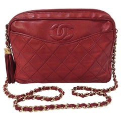 1986/1987 Chanel Red Camera Bag