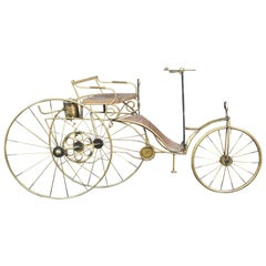 1986 Curtis Jere Karl Benz Mercedes Brass Bicycle Sculpture Mid-Century Modern