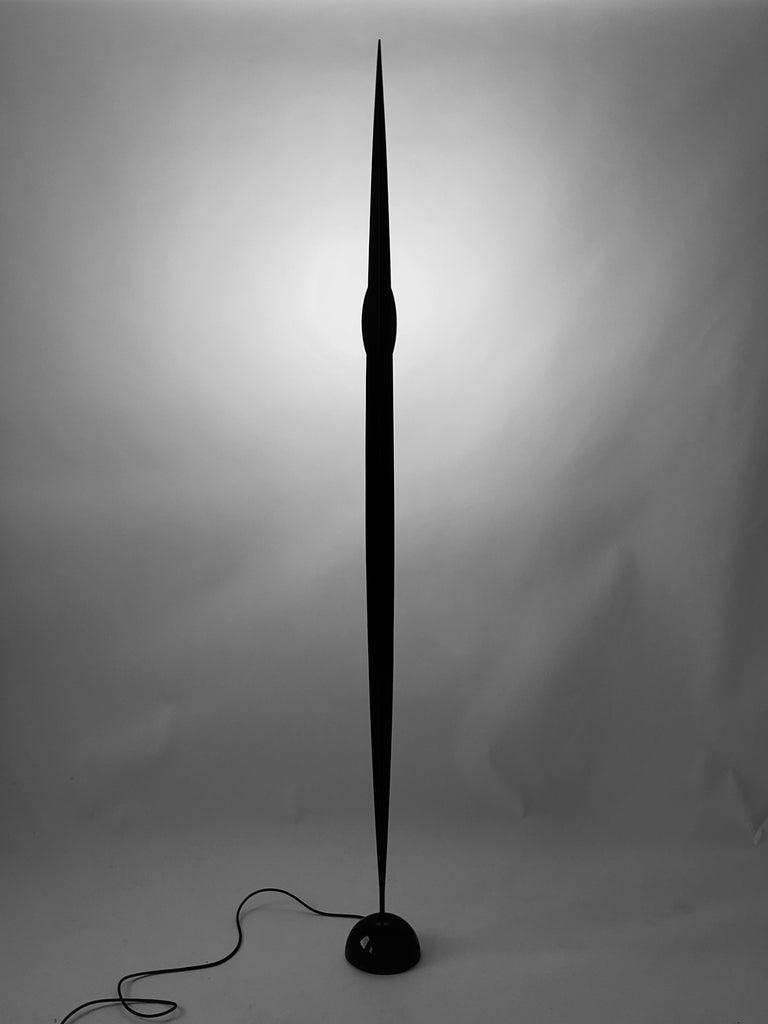 Modern 1986 Gilles Derain 'Flamme' Halogen Floor Lamp, Lumen Center, Italy For Sale