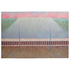 "1986 ""Plan Immortal"" by Craig Lloyd Mixed Media Oil on Canvas 62"""