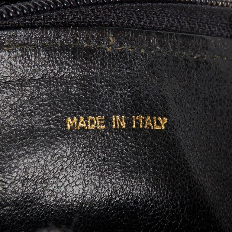 1987 Chanel Black Quilted Lizard Leather Vintage Timeless Fringe Shoulder Pochet For Sale 3