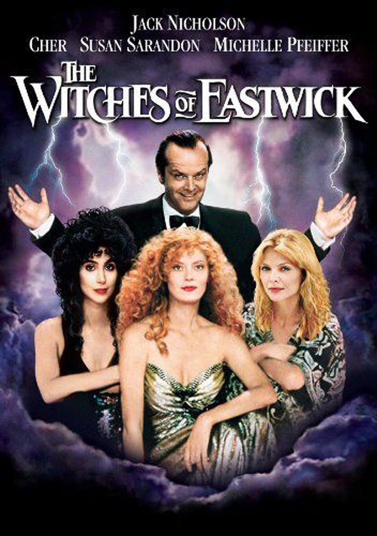 A breathtaking ensemble worn by Cher for her role in the 1987 Warner Brothers production of Witches of Eastwick.  This famous film stars Jack Nicholson as Daryl Van Horne, alongside Cher, Michelle Pfeiffer and Susan Sarandon as the eponymous