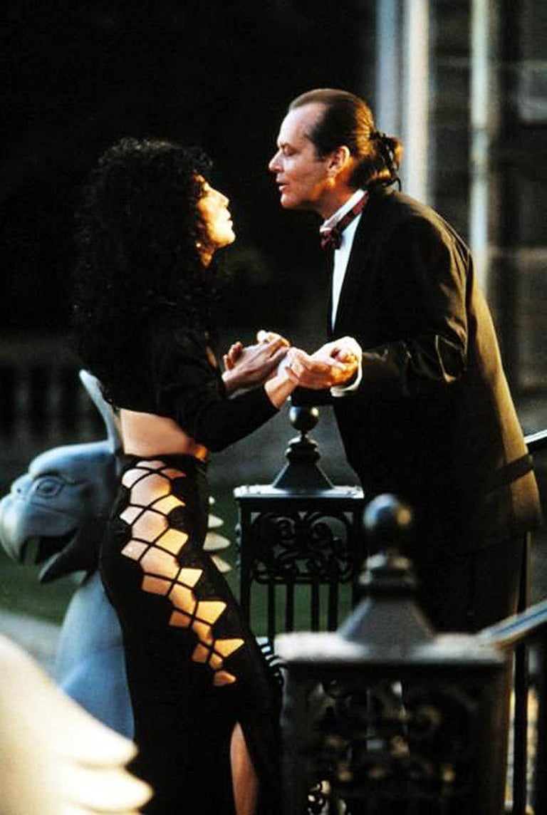 Women's 1987 Cher Witches of Eastwick Movie-Worn Alaia Lace Up Fishtail Skirt & Crop Top For Sale