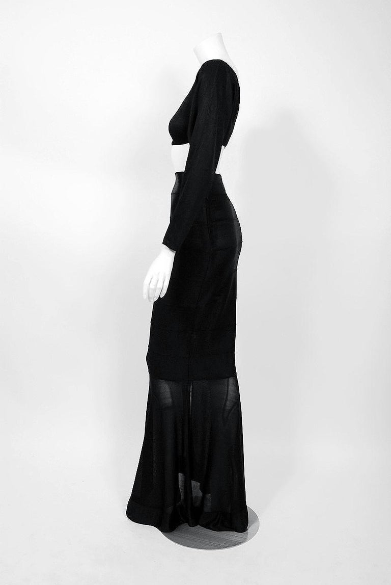 1987 Cher Witches of Eastwick Movie-Worn Alaia Lace Up Fishtail Skirt & Crop Top For Sale 5