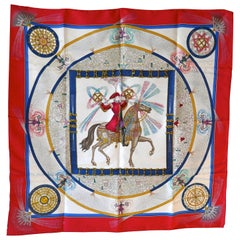 "1987 Hermes 150th Anniversary Silk Scarf ""Feux d""Artifice "" by  Michael Duchene"