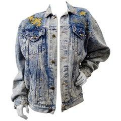 """1987 Tony Alamo """"Hollywood"""" Rhinestone Embellished Jean Jacket"""