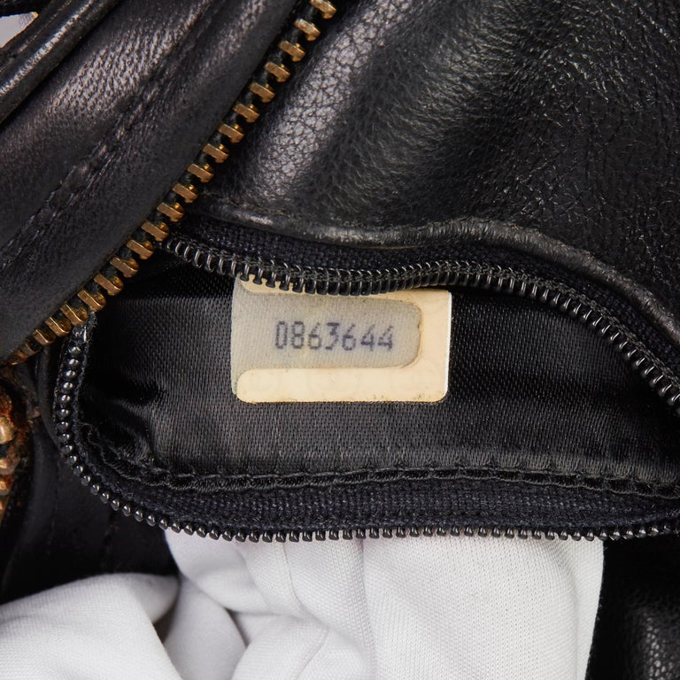 1988 Chanel Black Quilted Lambskin Vintage Timeless Charm Wristlet  For Sale 6
