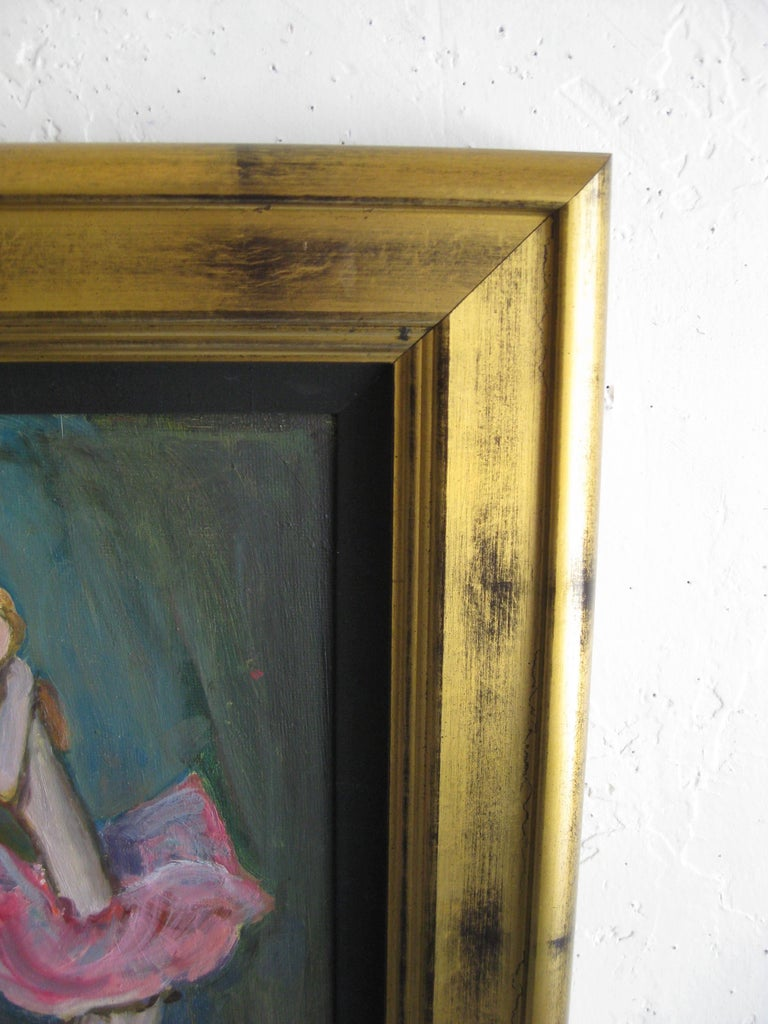 1988 Moisey Moses Alexandrovich Feigin Russian Listed Artist Cubist Oil Painting For Sale 5