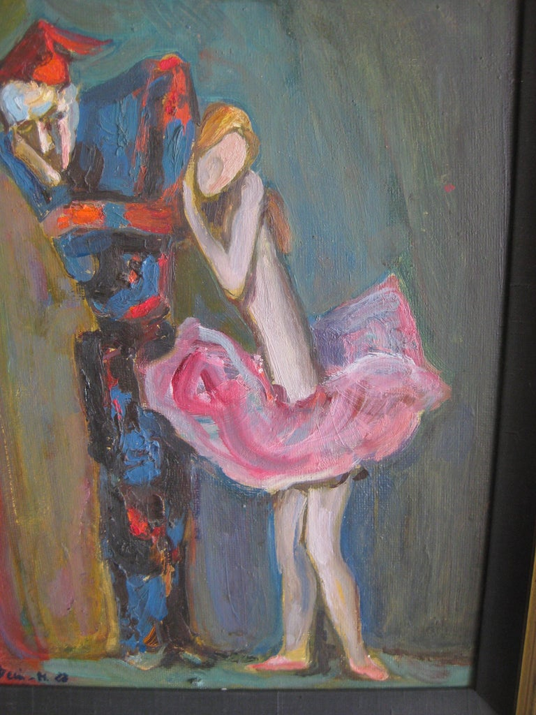 1988 Moisey Moses Alexandrovich Feigin Russian Listed Artist Cubist Oil Painting For Sale 2
