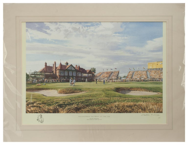 1988 open golf championship print by Arthur Weaver.