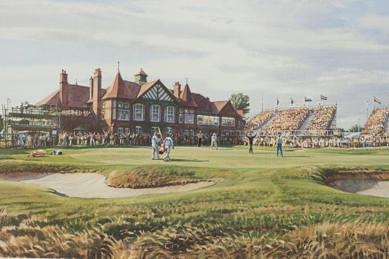 Sporting Art Classic Golf Art 1988 Open Golf Championship at Royal Lytham and St Annes For Sale