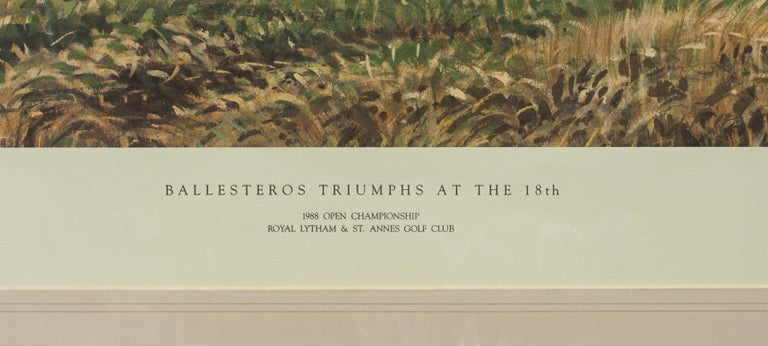 English Classic Golf Art 1988 Open Golf Championship at Royal Lytham and St Annes For Sale