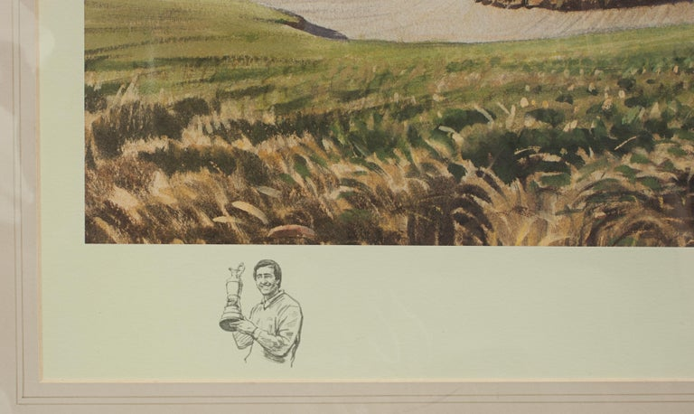 Late 20th Century Classic Golf Art 1988 Open Golf Championship at Royal Lytham and St Annes For Sale