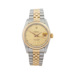 1988 Rolex Datejust Steel & Yellow Gold 68273 Wristwatch