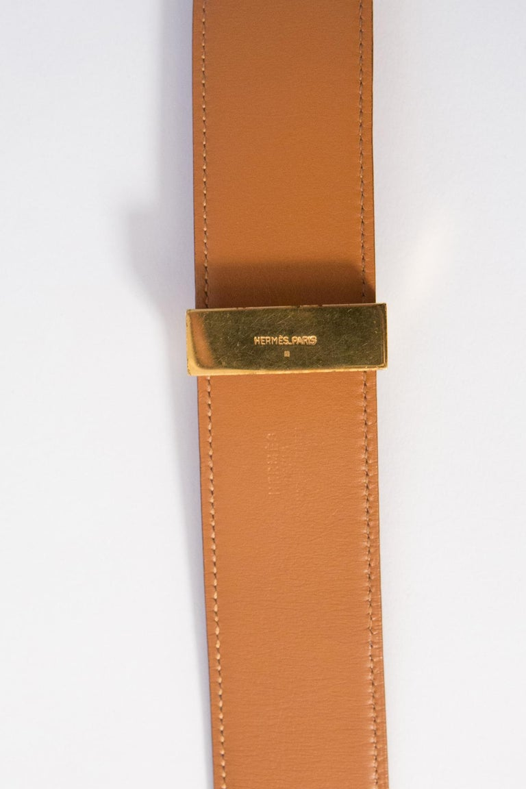 Women's or Men's 1988s Gorgeous Hermes Red Calfskin Leather Collier de Chien Medor Belt 75cm For Sale