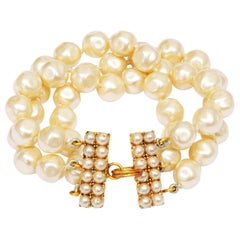 1989/1990 Chanel Documented Baroque Pearl Bracelet