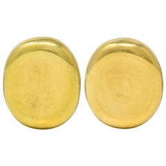 1989 Angela Cummings Vintage 18 Karat Gold Ear-Clip Earrings