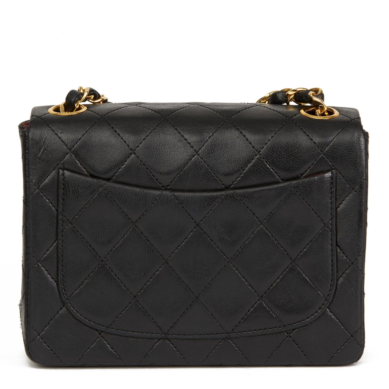 c36ee143ad1746 1989 Chanel Black Quilted Lambskin Vintage Mini Flap Bag For Sale at 1stdibs