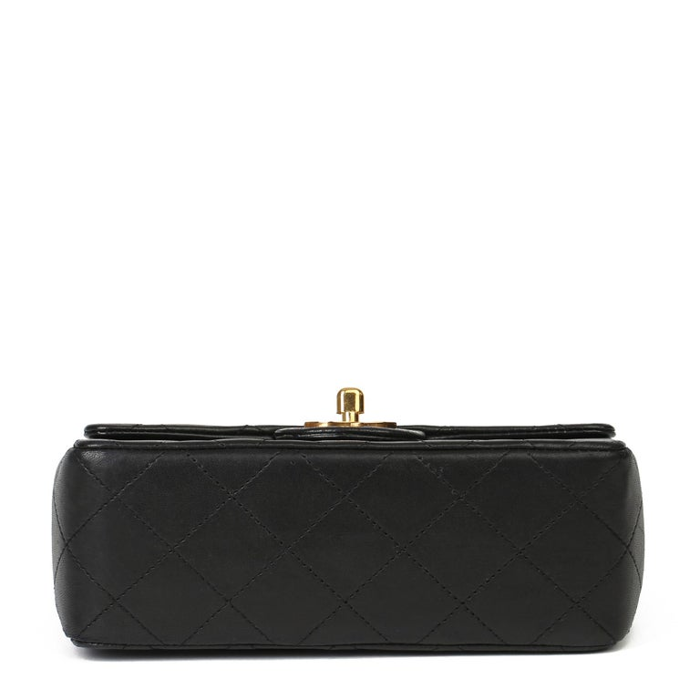 1989 Chanel Black Quilted Lambskin Vintage Mini Flap Bag  For Sale 2