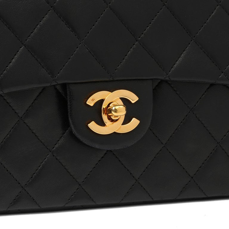 1989 Chanel Black Quilted Lambskin Vintage Mini Flap Bag  For Sale 3