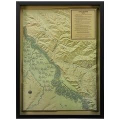 """1989 """"Little Big Horn, 1876"""" Raised Relief Map"""