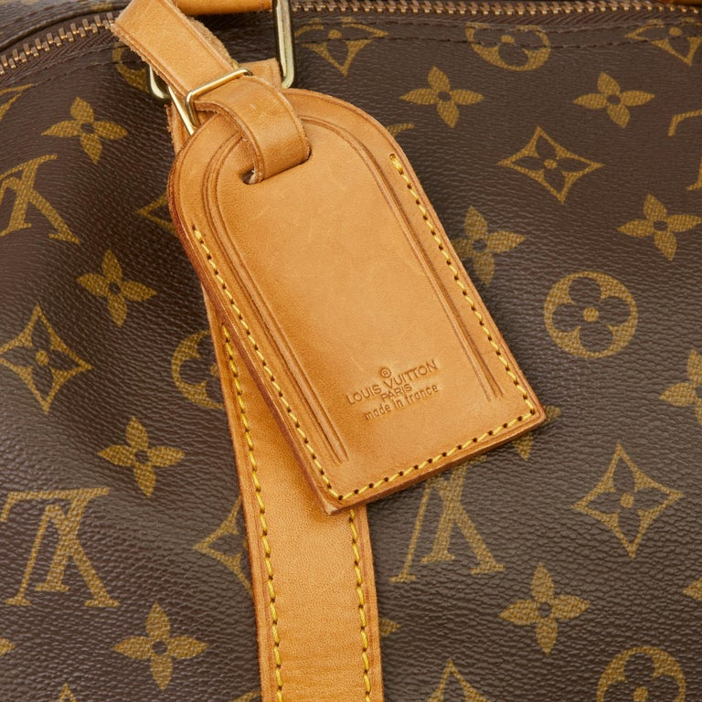 1989 Louis Vuitton Hand-painted  Paper Plane$ Monogram Coated Canvas Keepall 50 For Sale 4