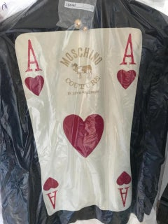 1989 Moschino Couture Ace of Hearts Jacket