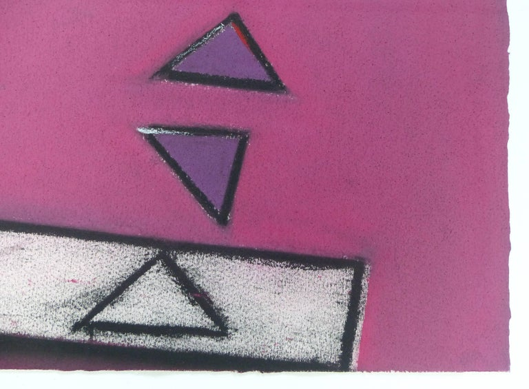 1989 Postmodern Mixed-Media Painting In Good Condition For Sale In Miami, FL