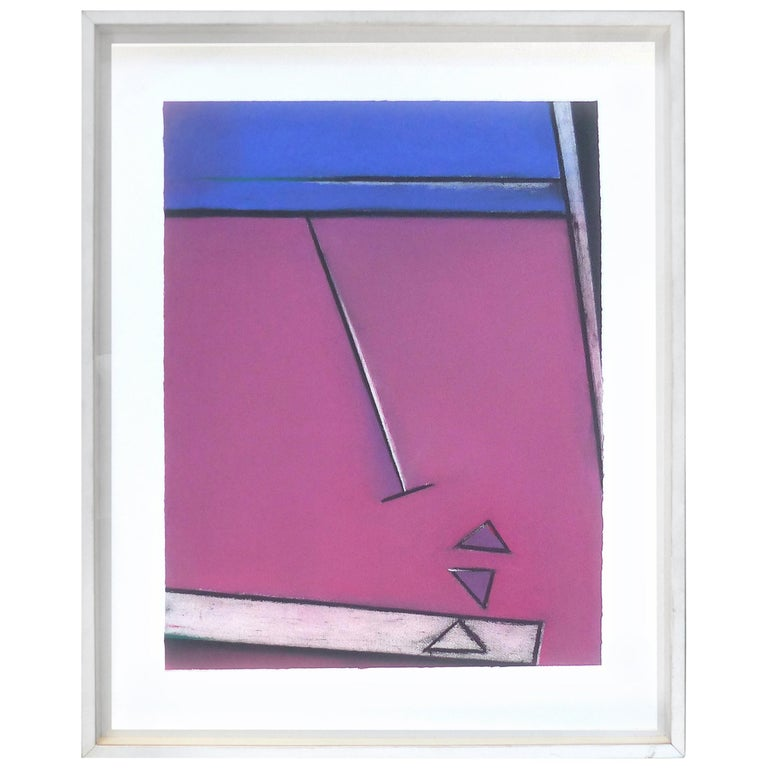 1989 Postmodern Mixed-Media Painting For Sale