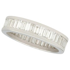 2.20 Carat Diamond and White Gold Full Eternity Ring
