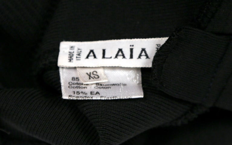 1990 AZZEDINE ALAIA black runway dress with strappy back For Sale 2