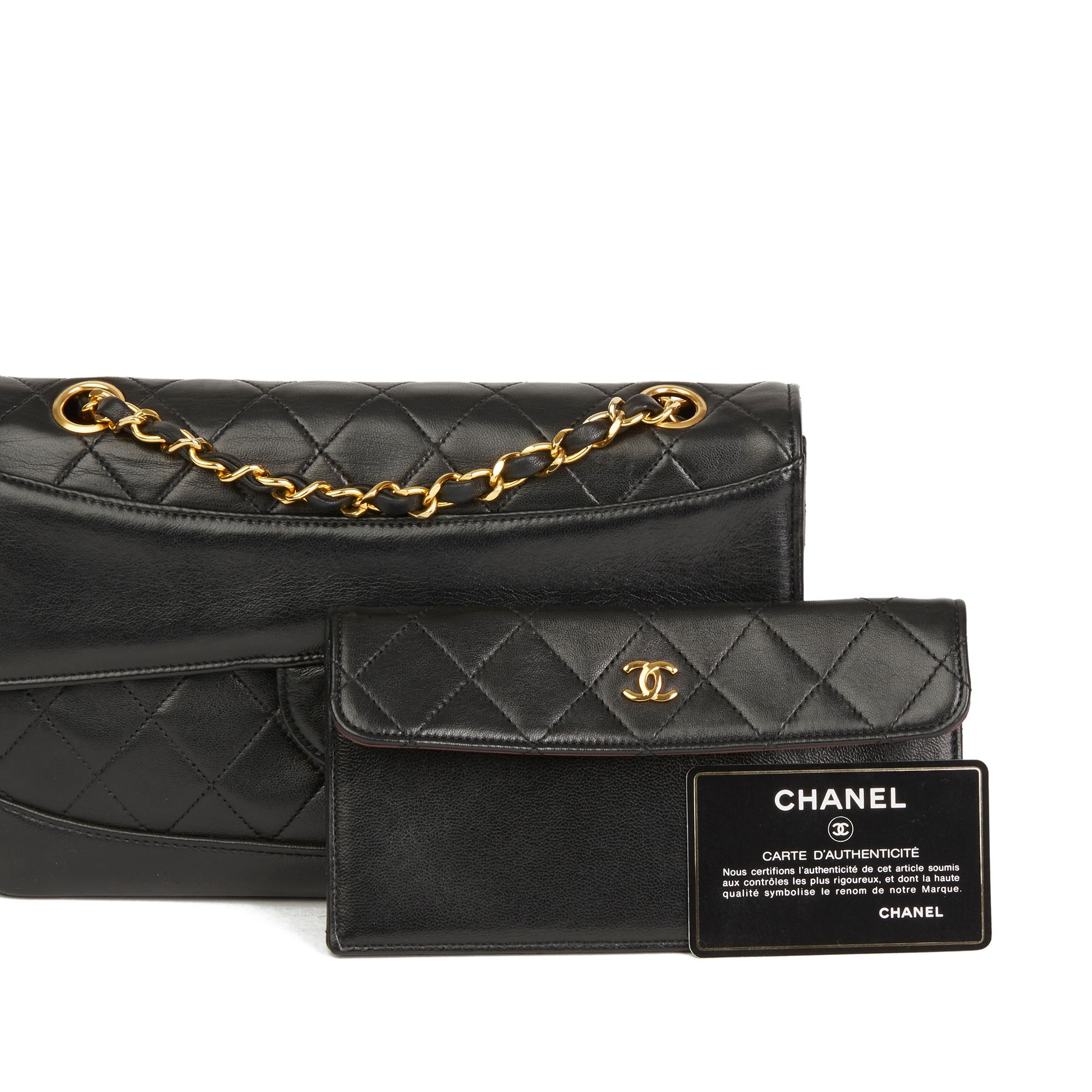 67d9416d015b5e 1990 Chanel Black Quilted Lambskin Vintage Classic Single Flap Bag with  Wallet at 1stdibs