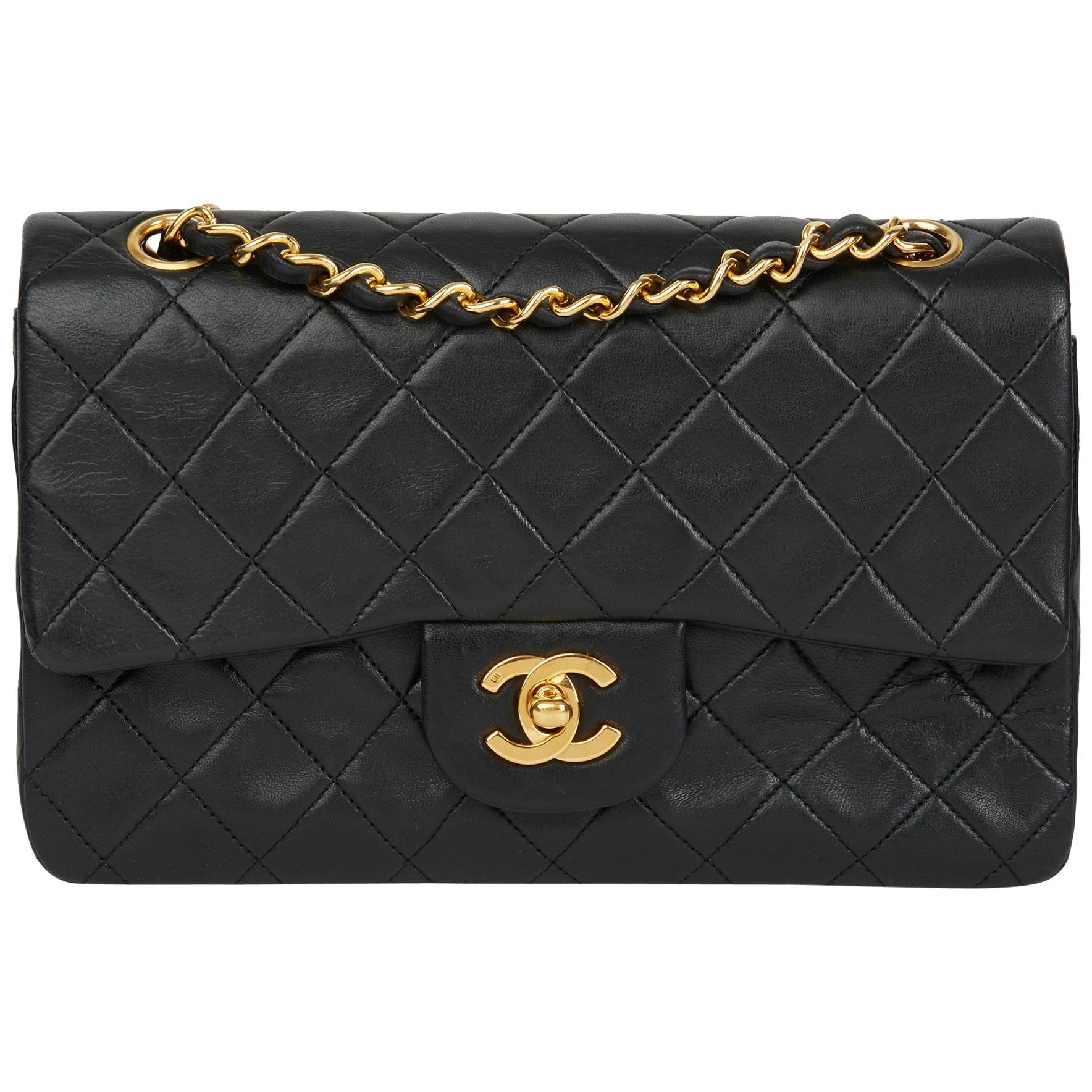 78f89e6081fa Chanel Black Vintage Quilted Box Shoulder Bag For Sale at 1stdibs