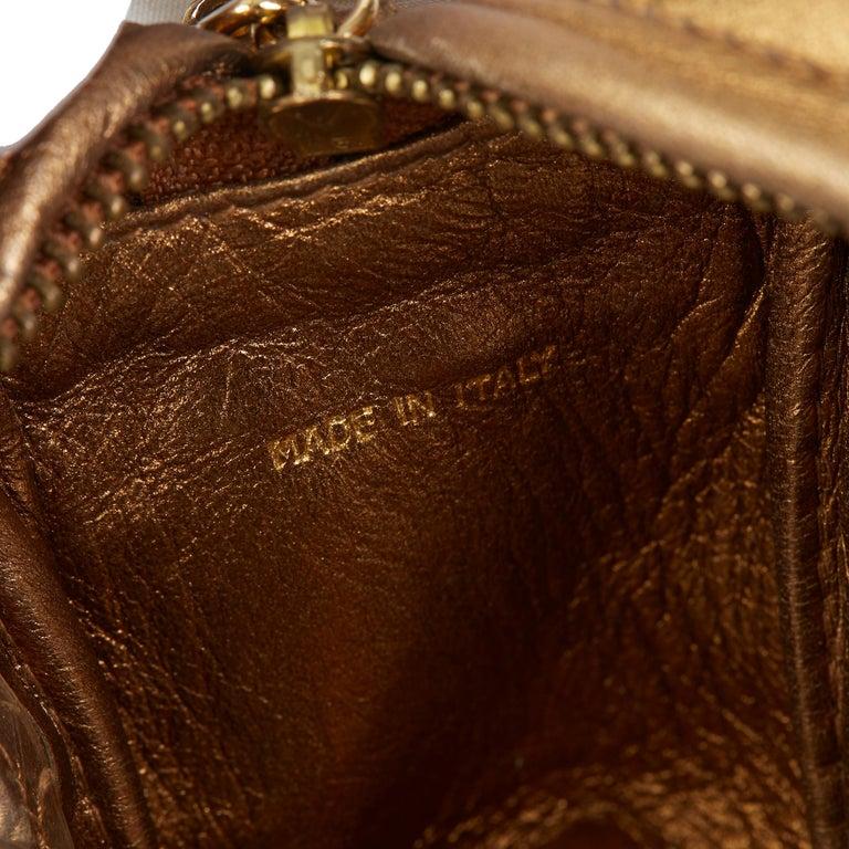 1990 Chanel Gold Metallic Lambskin & PVC Vintage Naked Camera Bag For Sale 2