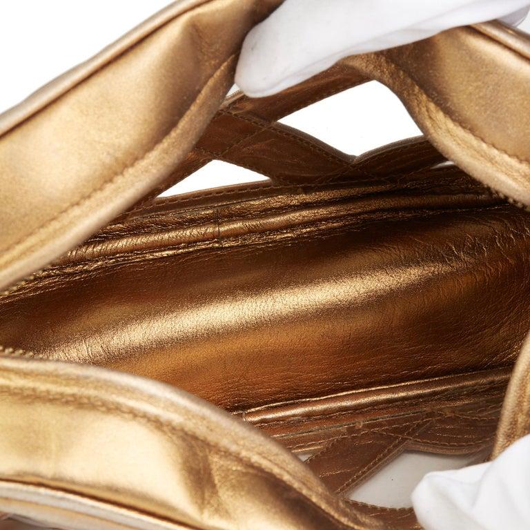 1990 Chanel Gold Metallic Lambskin & PVC Vintage Naked Camera Bag For Sale 4