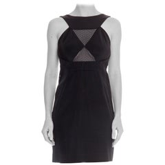 1990 Gucci 1990s  Backless Dress with Mesh Inserts