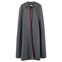 1990s Hermès Grey Long Cape