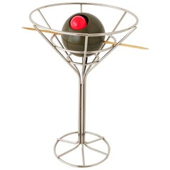 1990 Lighted Sculptural Martini Glass, USA