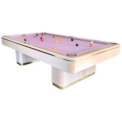 1990 Olhausen Oak and Brass Pool Table