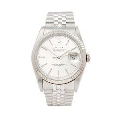 1990 Rolex Datejust Steel & White Gold 16234 Wristwatch