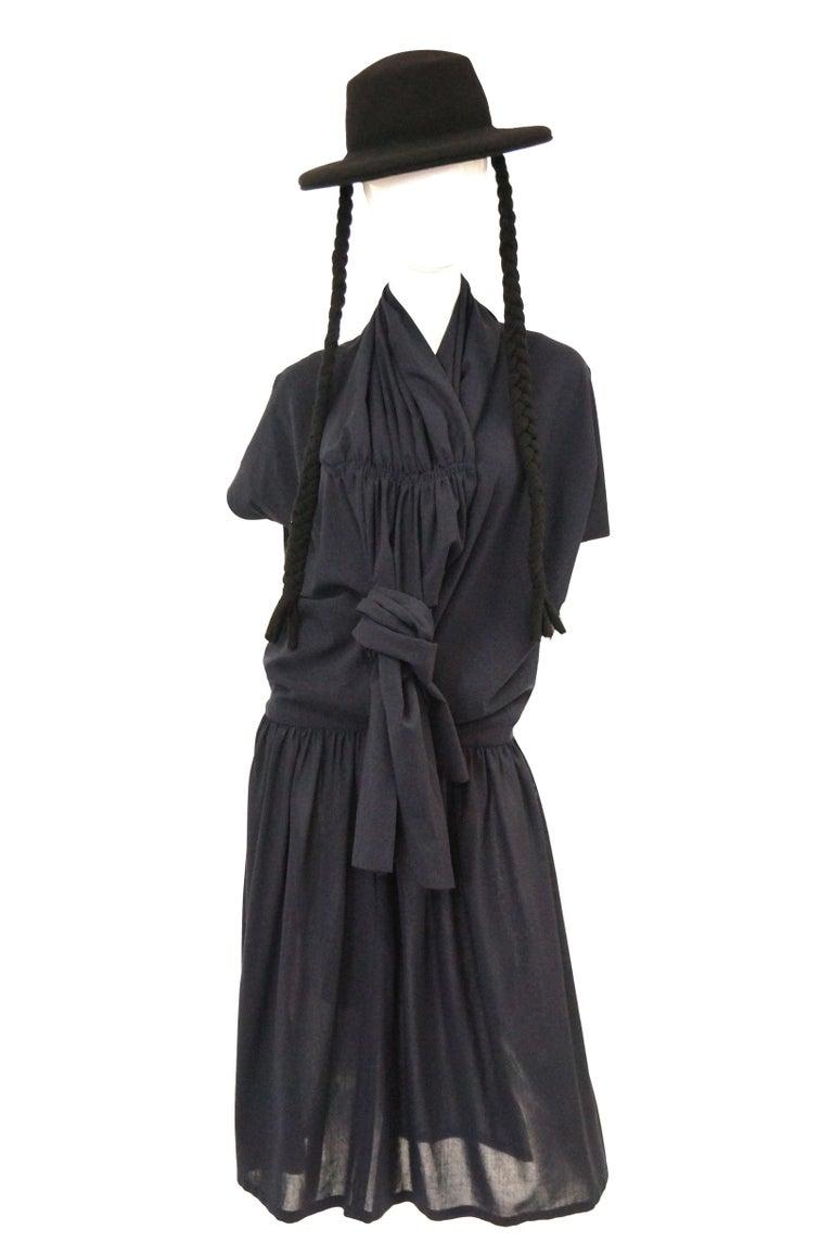 1990 Yohji Yamamoto Avant Garde Open Back Wool Dress  For Sale 5