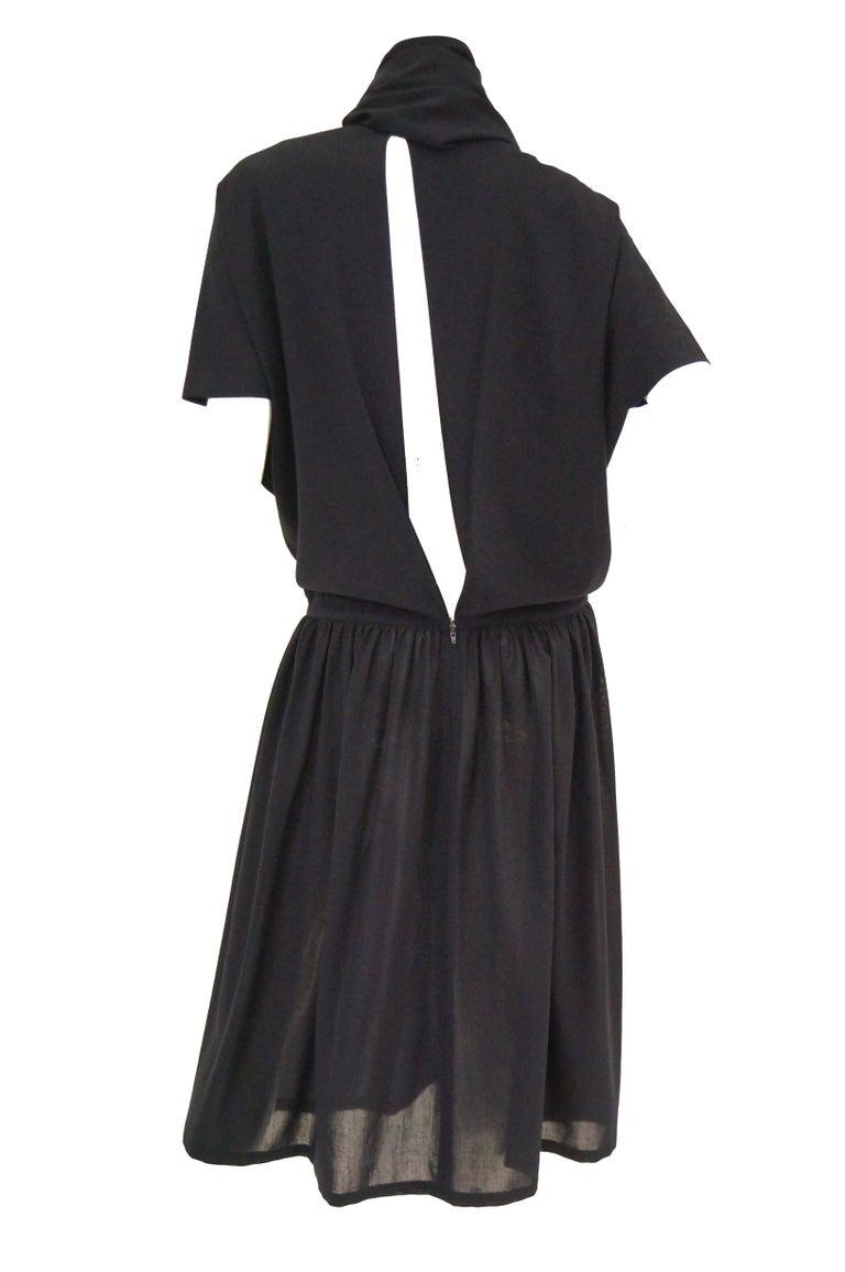 1990 Yohji Yamamoto Avant Garde Open Back Wool Dress  For Sale 1