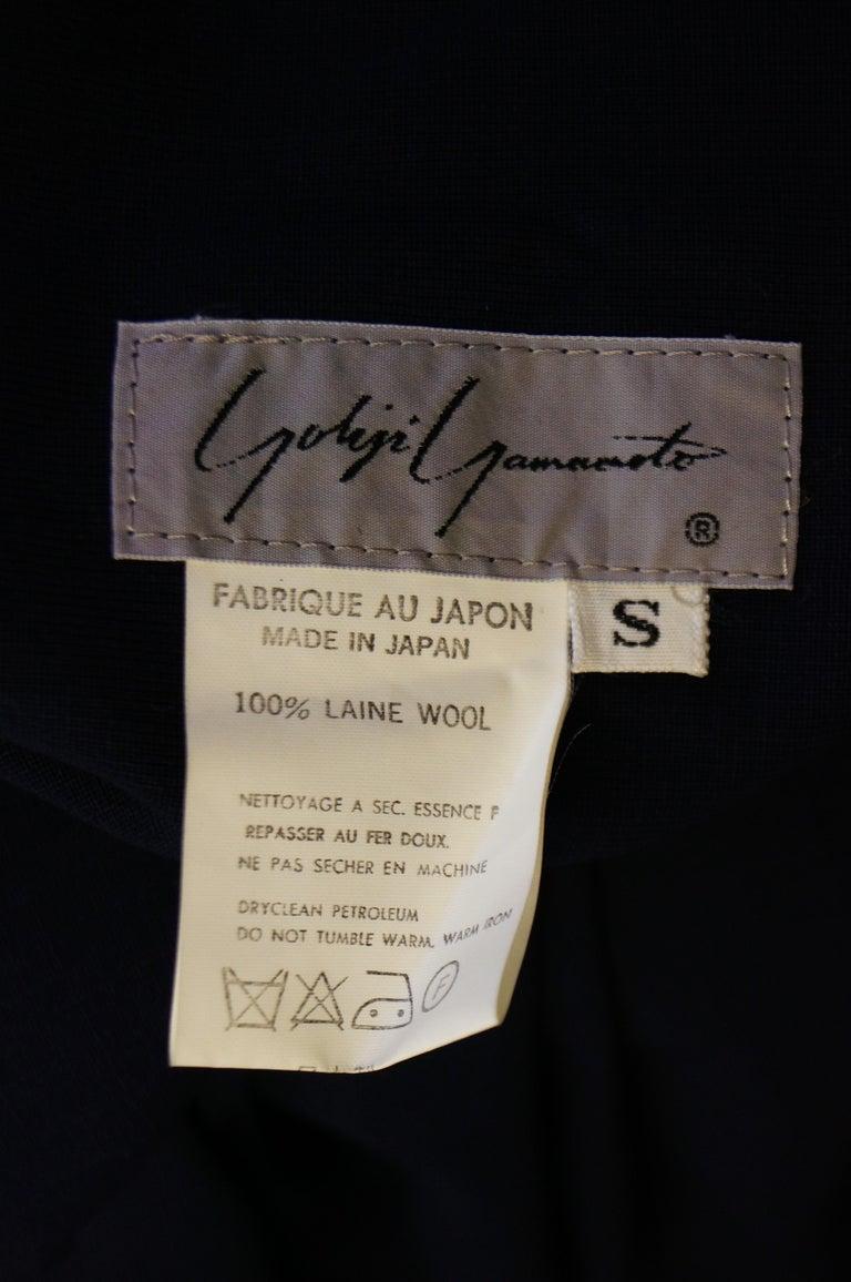 1990 Yohji Yamamoto Avant Garde Open Back Wool Dress  For Sale 4